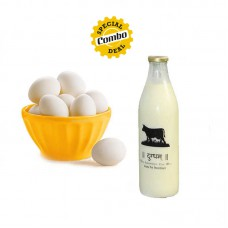 Gir Cow Milk (1L) + Delicious Eggs (6pcs)